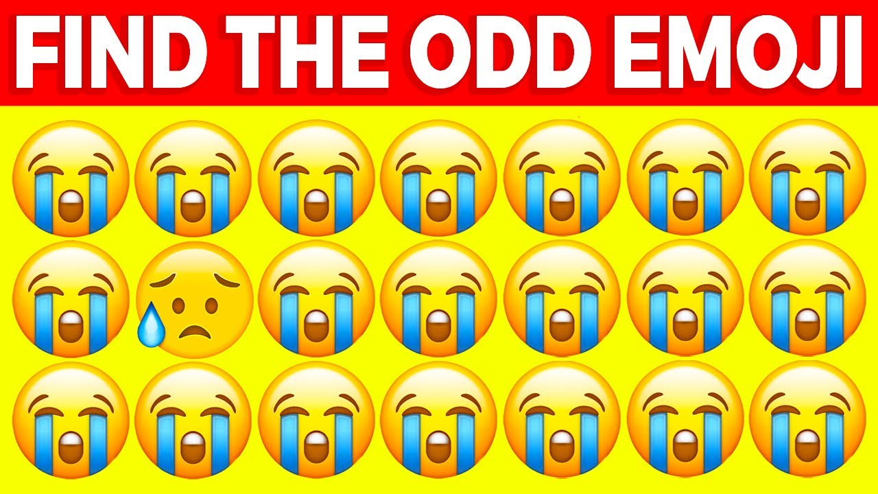 CAN YOU FIND THE ODD EMOJI OUT IN THESE PICTURES? (EYE TEST)