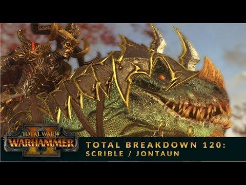 Total Breakdown 120 (WH2) - Beastmen vs Dark Elves - Warhammer 2 Mortal Empires Battle