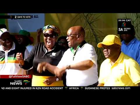 Jacob Zuma attends the ANC's Siyanqoba rally in Pietermaritzburg