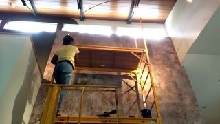 Scaffolding set up one person For faux finish and painting http walldesignsbyemida com