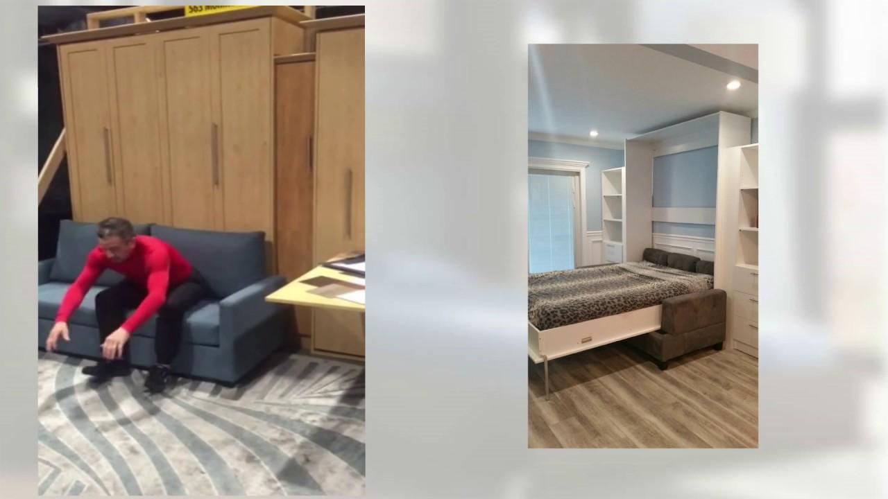murphy bed sofa nyc ny youtube rh youtube com Murphy Beds IKEA Eurpean Style Murphy Beds