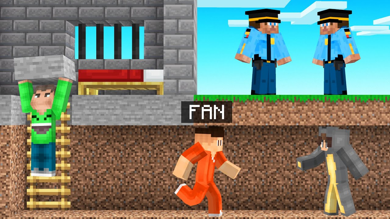 We BROKE Our BIGGEST FAN Out Of PRISON! (Minecraft)