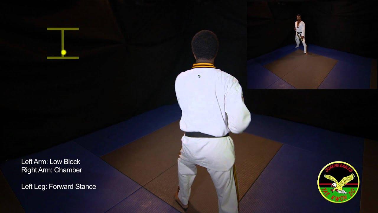 Basic Form 1 - Taekwondo - YouTube