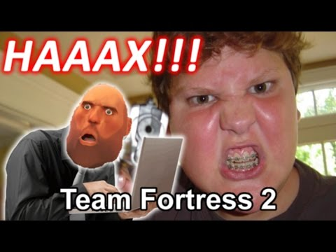 Angry Kid think that people hacking on Team Fortress 2