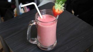 Strawberry Banana Smoothie Recipe - Vegan, Vegetarian, Healthy Breakfast Drink
