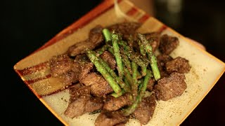 Seasoned Steak Bites With Asparagus