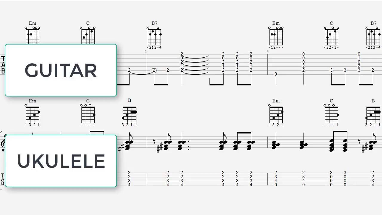 Havana Ukulele Guitar Chords Ukulele Tab 7 Notes Havana
