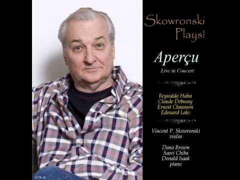 Skowronski Plays! Sonata in C Major, Second Movement, by Reynaldo Hahn