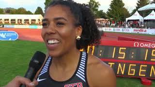 Leichtathletik Schweizer Meisterschaften, Zofingen AG, 100m Frauen Final