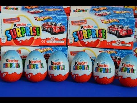 Видео: NEW Kinder Surprise Hot Wheels Surprise eggs chocolate surprise eggs AMAZING