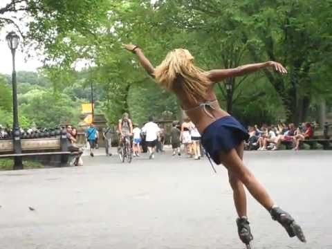 central park inline skater rihanna_only girl in the world.