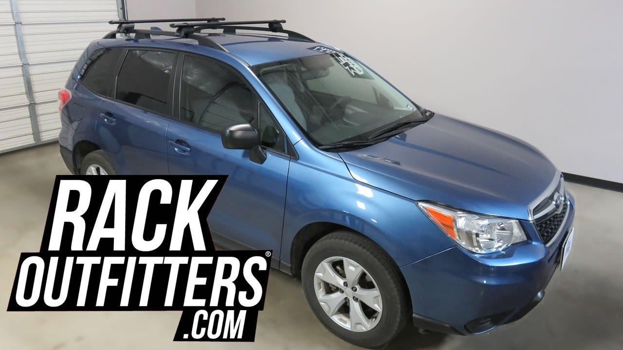 2014 To 2017 Subaru Forester With Yakima Timberline CoreBar Roof Rack  Crossbars