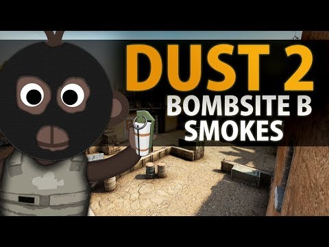 *NEW* Dust 2 B-Site Smokes In CS:GO (Window + Site + Car + Doors + Plat)