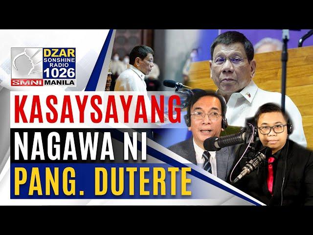 Itanong Mo Kay Pañero: Oposisyon, nga-nga na ba sa mga nagawa ni Pang. Duterte?