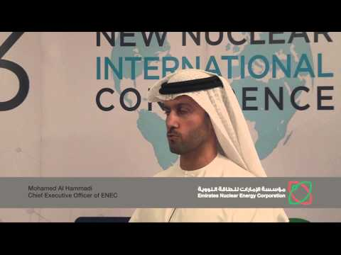 NNIC 2013: Mohammed Al Hammadi, CEO of Emirates Nuclear energy Corporation