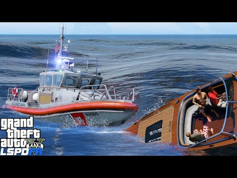 GTA 5 LSPDFR Coastal Callouts | USCG Response Boat Medium | Pursuit, Safety Inspections & Rescue