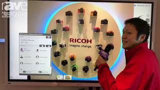 "ISE 2019: Ricoh Demos 86"" Interactive Whiteboard with Office 365 Meeting Assistant"