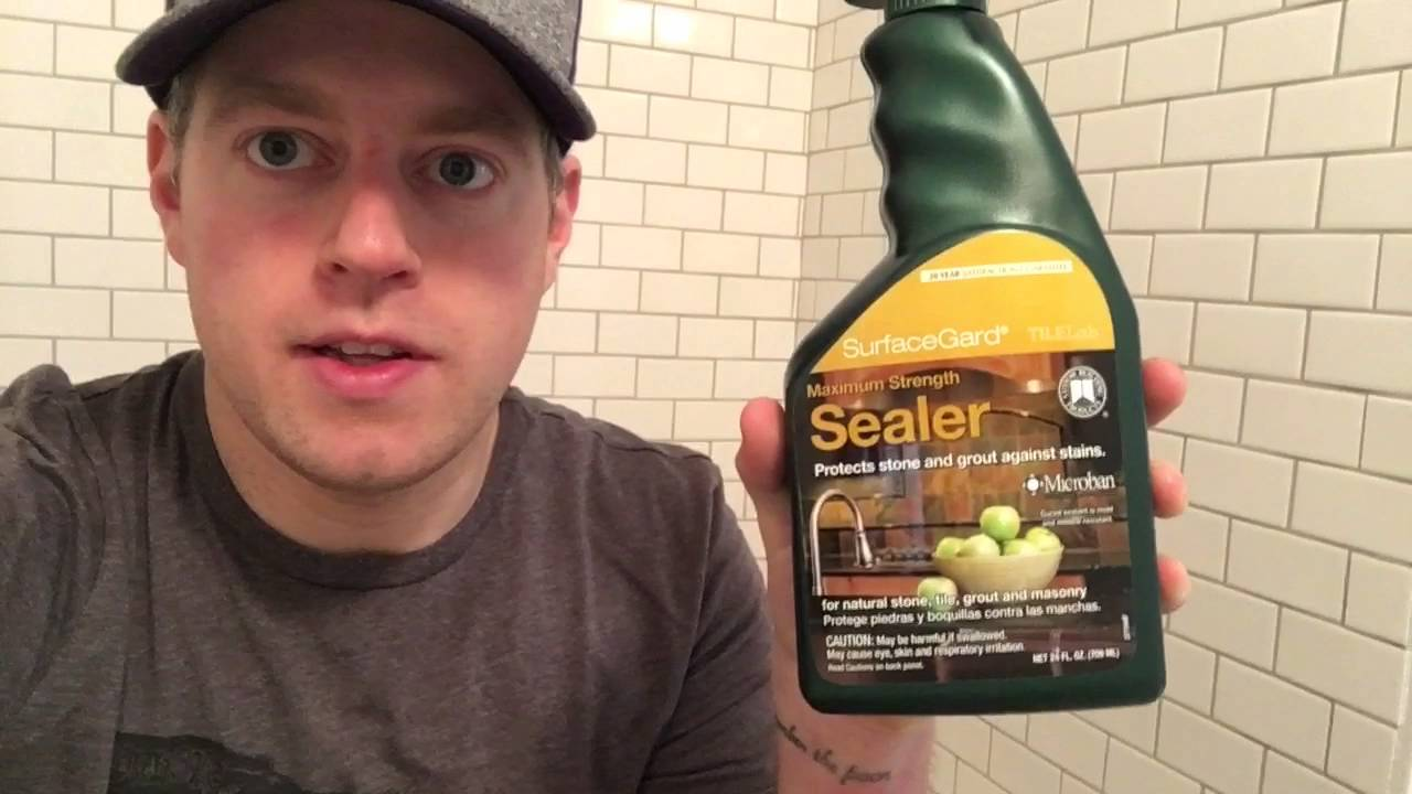 how to seal your grout and tile floor and shower