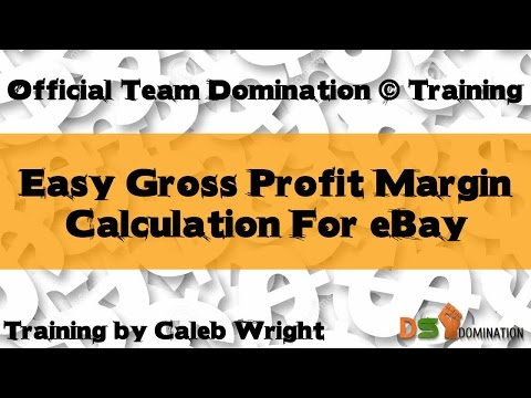 Gross Profit Margin Formula | DS Domination / eBay
