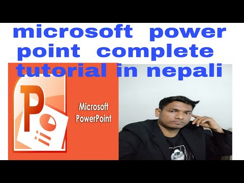 ms power point complete tutorial in Nepali