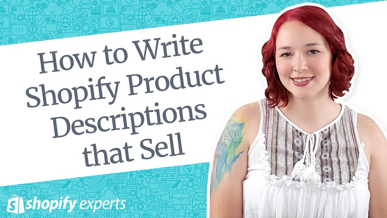 Shopify Product Descriptions that Sell