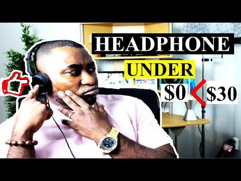 Studio Headphones For Music Production Under $30