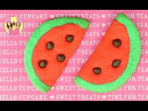 WATERMELON EMOJI COOKIES! So Kawaii - Add A Popsicle Stick To Make Them Cookie Pops