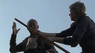 The Walking Dead 8x16 Super Action Scenes ( Morgan Jones Scenes )