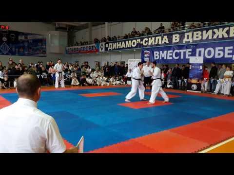 Всероссийские соревнования по киокусинкай каратэ Соловьев А. Vs Попов В. финал