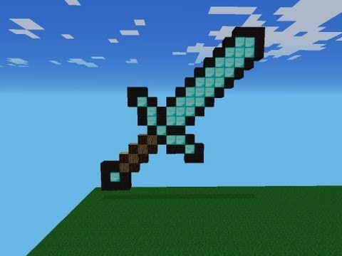 Minecraft Pixel Art | Como Hacer Una Espada De Diamante