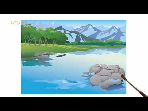 Как нужно рисовать красивый пейзаж