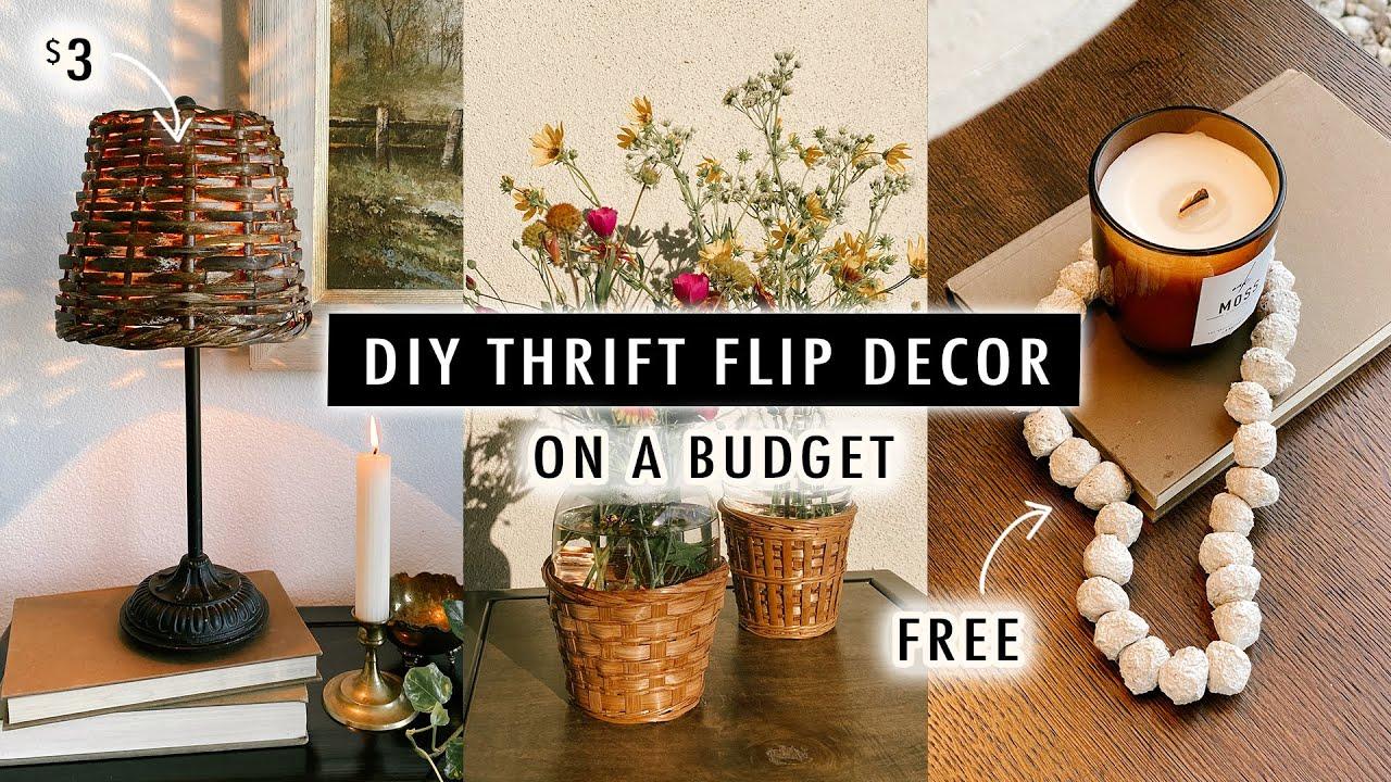DIY Thrift Flip Decor ON A BUDGET *2021 Decor Trends* | XO, MaCenna