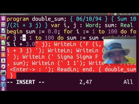 pascal programming language double sum program vokoscreen 2017 06 12 08 15 12