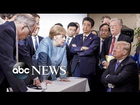 Trump and allies trade barbs at G7