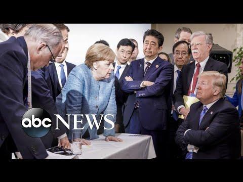 Trump and allies trade barbs at G7