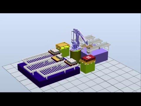 Palletizing / Paletleme / ABB Robot Studio / Robotic Simülasyon / ismaiL DAYILAR
