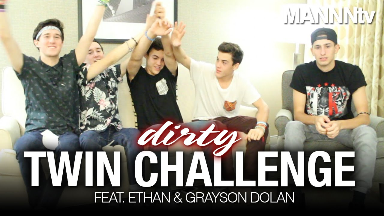 Dirty Twin Challenge Feat Ethan Amp Grayson Dolan Youtube