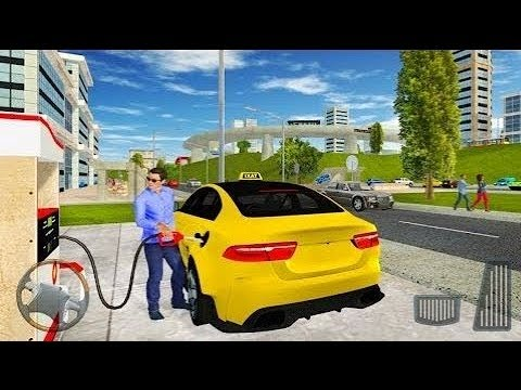 Taxi Game 2  - Yellow Cab Service Driving Simulator #4 - Android Gameplay