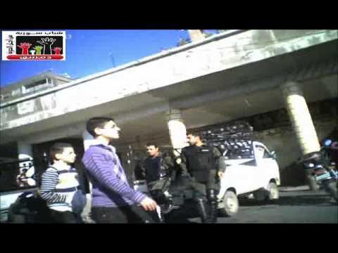 شباب دمشق ركن الدين ساحة شمدين الأمن بلباس جديد والشبيحة بعد صلاة العيد 6 11 2011