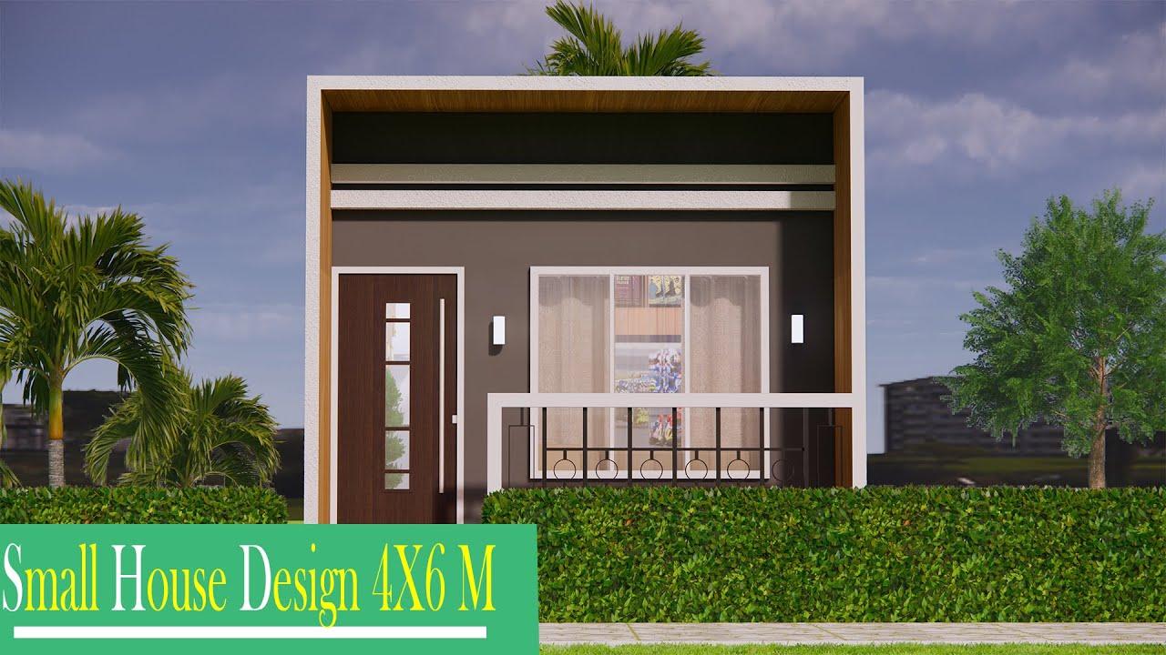 Download fachadas 6x4m / CASA 6X4 M / HOUSE 6x4 (24 sqm)