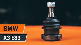 Comment remplacer un rotule de suspension avant sur une BMW X3 E83 TUTORIEL | AUTODOC
