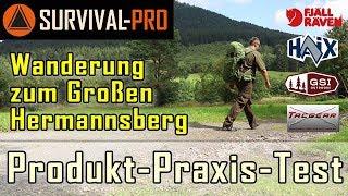 Wanderung zum Großen Hermannsberg, Outdoor-Ausrüstung von Fjällräven, HAIX, GSI-Outdoors, Mil-Tec