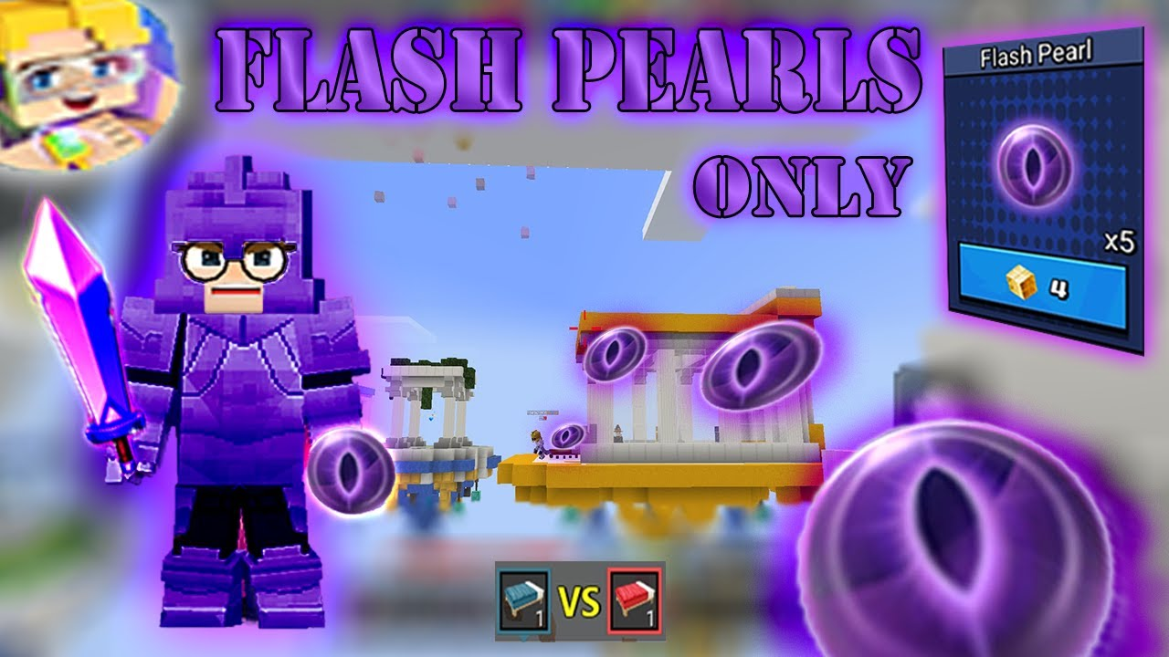 FLASH PEARLS Only Challenge In SOLO Bed Wars | Blockman Go Gameplay (Android , iOS)