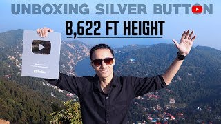 The Unboxing Of Youtube Silver Play Button At 8,622 Ft Height🔥