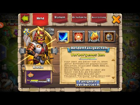 OVERPOWERED RONIN (8/8 VERBRENNEN) IM TEST - CASTLE CLASH