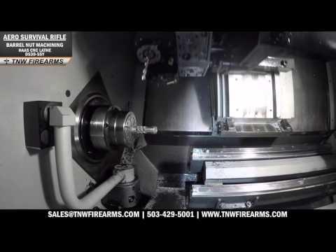 Aero Survival Rifle - Barrel Nut CNC Machining (Haas CNC Lathe DS30-SSY)
