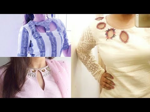 Kurtis Beautiful Neck Designs With New Trend Style Youtube