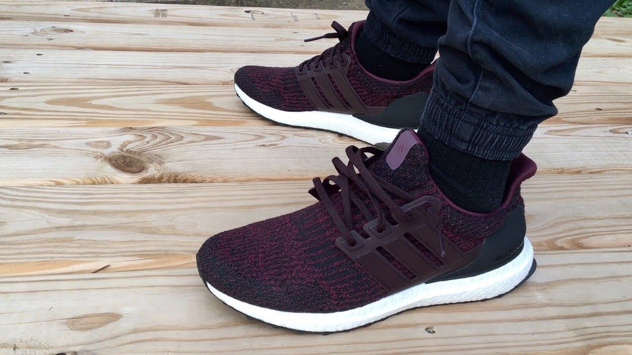 4c547e238b0 ... discount adidas ultraboost 3.0 deep burgundy review on foot 0d06d d796b