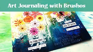 Art Journaling with Brushos & My Favourite Things Layering Stamps