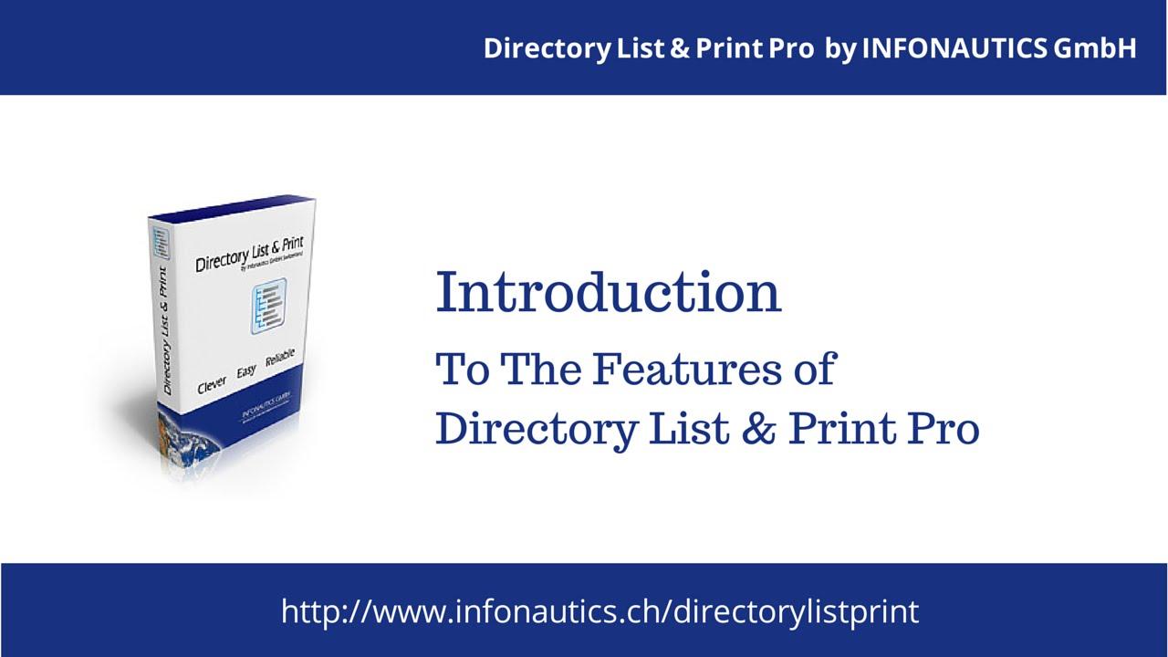 directory list & print pro full
